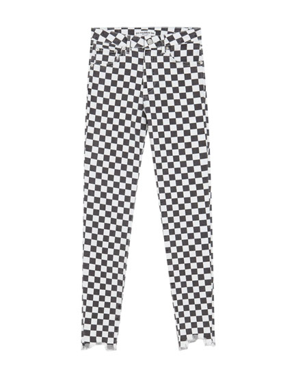 Pantalon skinny fit carreaux