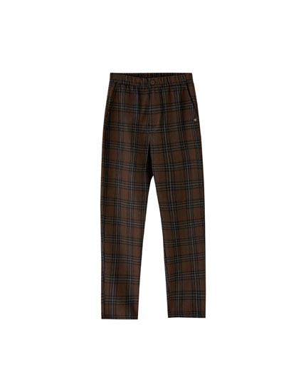 Spodnie tailoring w kratkę