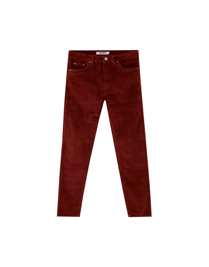 Mom fit corduroy trousers