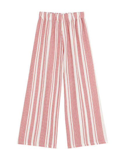 Multi-stripe culottes