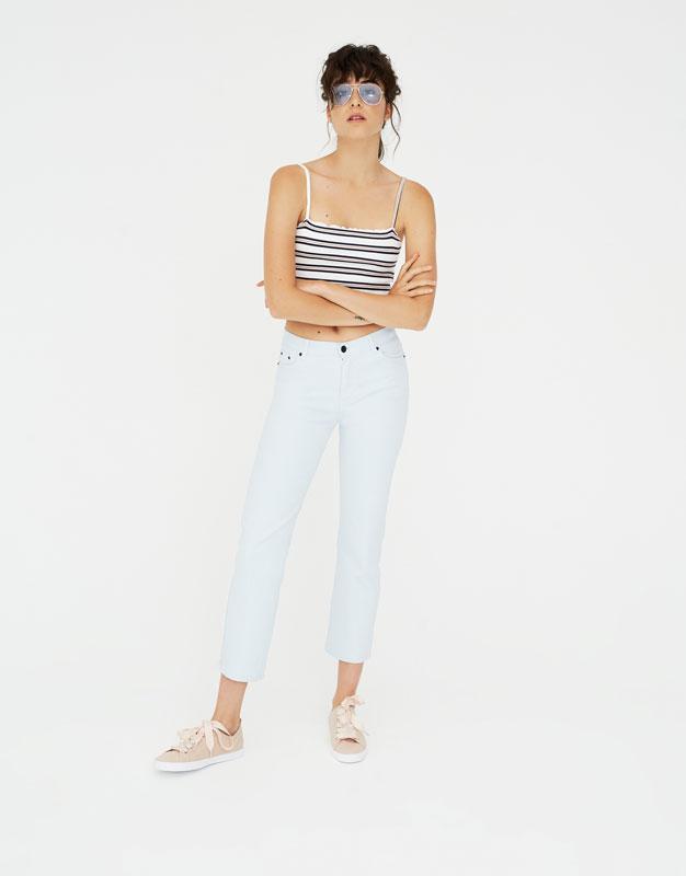 Χρωματιστό ίσιο παντελόνι by Pull & Bear