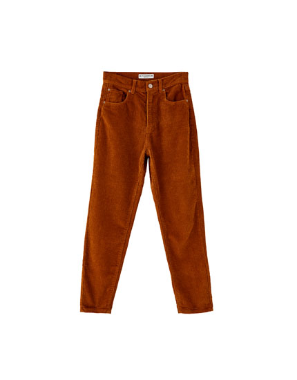 Straight-leg corduroy trousers