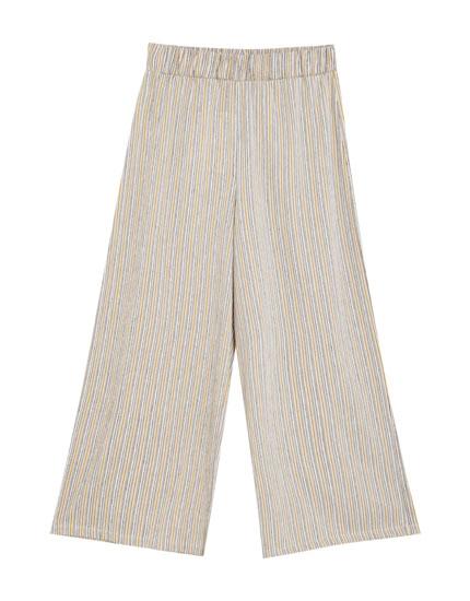 Pantalón culotte rayas