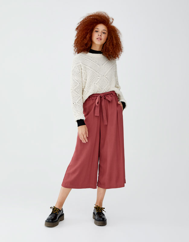 Basic Culotte Mit Schleife by Pull & Bear