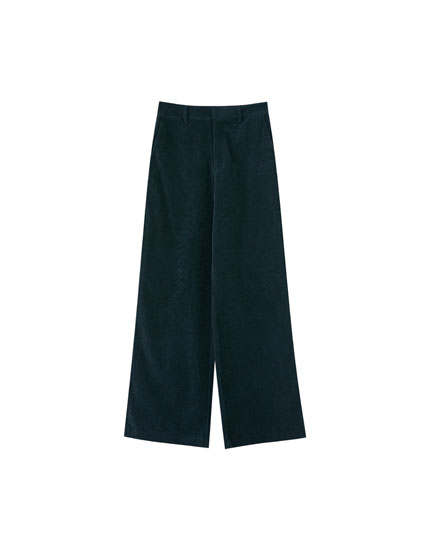 Flared corduroy trousers