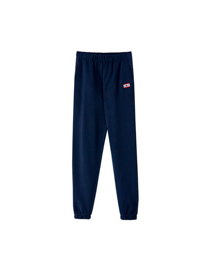 Flag jogging trousers