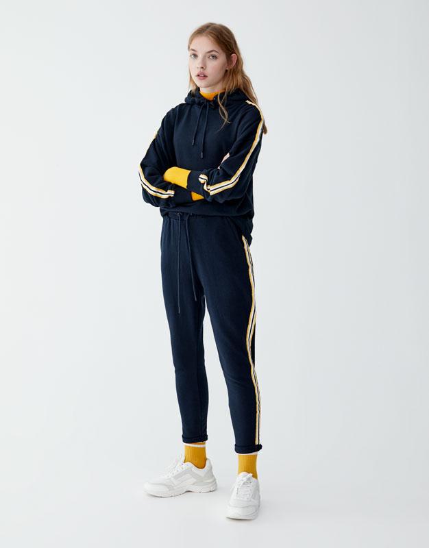 Pull & Bear - Pantalon jogging bande latérale - 1