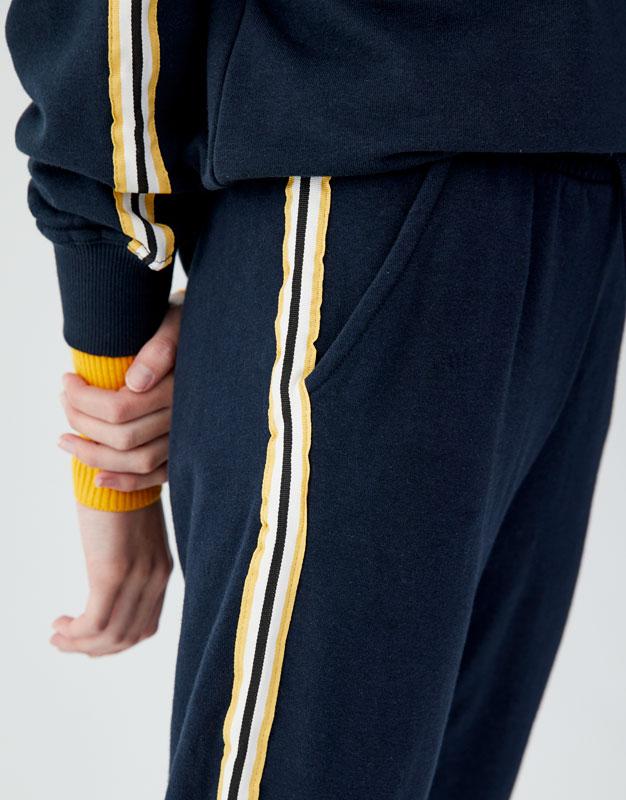 Pull & Bear - Pantalon jogging bande latérale - 3
