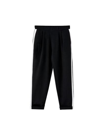 Jogging amp;bear Laterale Pantaloni Pull Fascia CRnqcPd