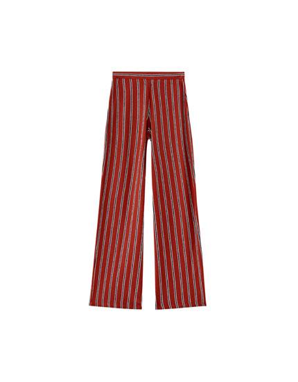 Παντελόνι basic σε στυλ palazzo
