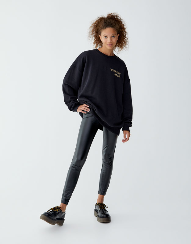 Leggings Basic In Vinile by Pull & Bear