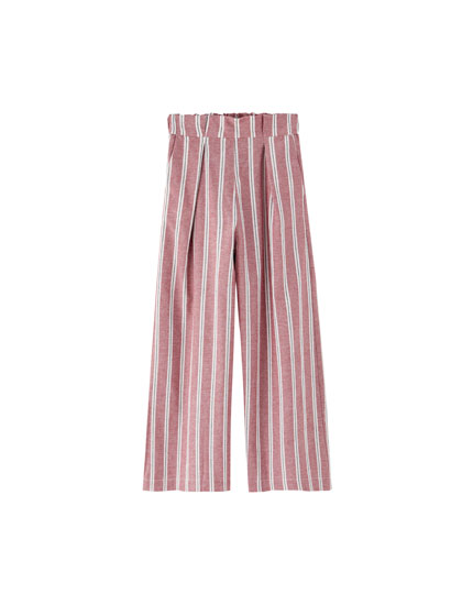 Culotte trousers with darts