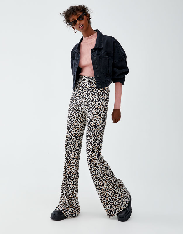 Leopard Print Trousers by Pull & Bear