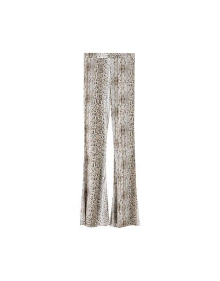 Παντελόνι pajama με leopard print