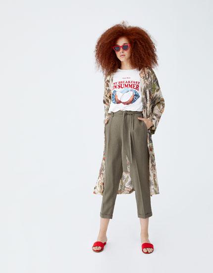 Pantalon jogger type tailoring