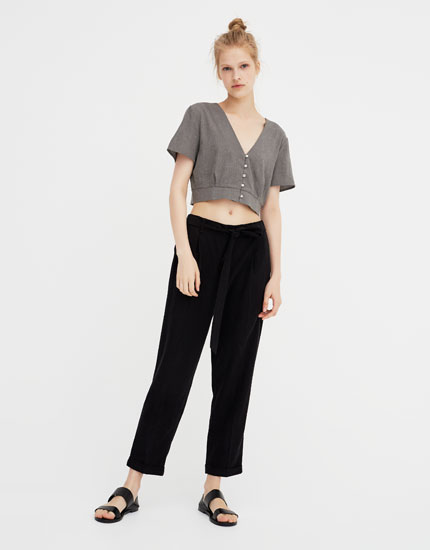 Tailored fit jogger trousers