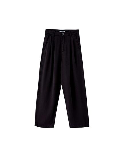 Pantalon tailleur à pinces