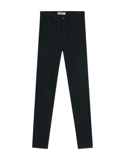 Spodnie skinny z wysokim stanem