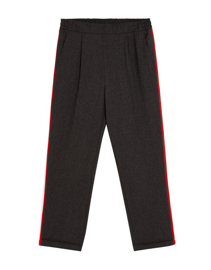 Jogging trousers with sporty stripes