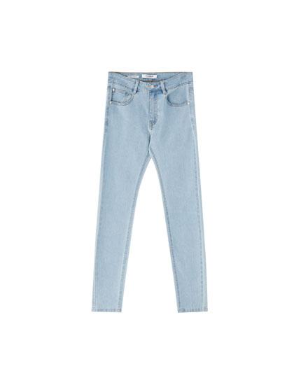 Low-waist skinny jeans