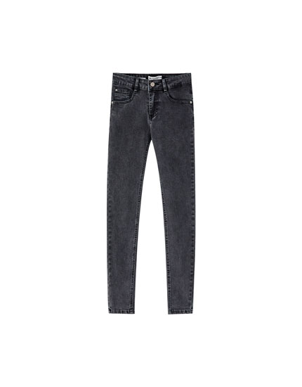 Jeans, skinny fit og low waist