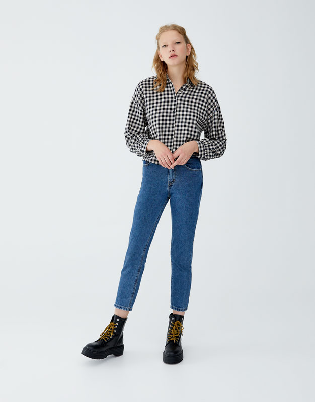 Jean Mom Fit Basic by Pull & Bear
