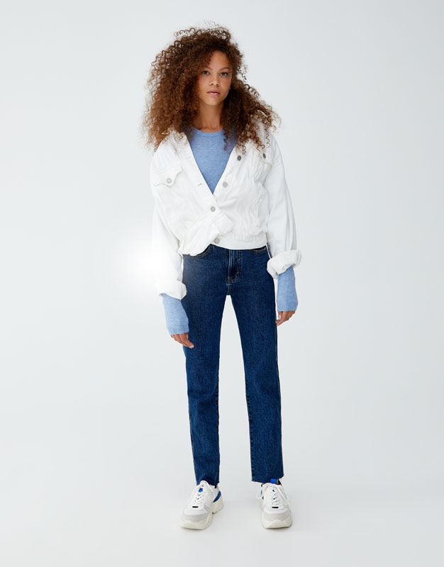 Skinny Jeans Mom Comfort Fit by Pull & Bear