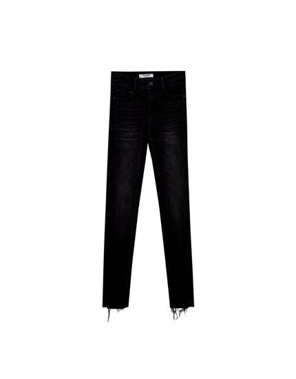 Jean skinny fit taille haute