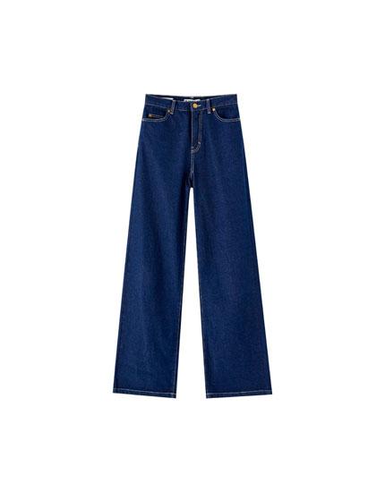 Jeans pierna ancha