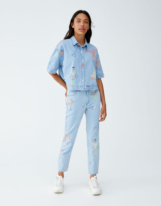 shoptagr jeans plaza sésamo mom fit by pull bear