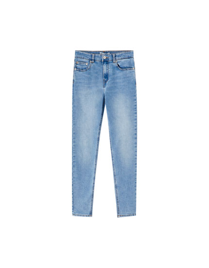 Jeans skinny fit og high waist