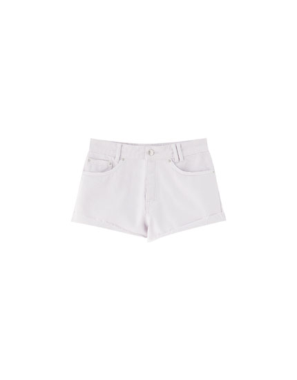 Mauve mom fit denim shorts