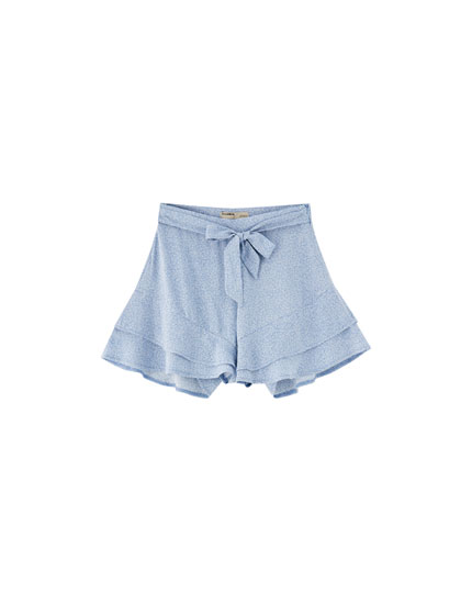 Shorts volante mini print