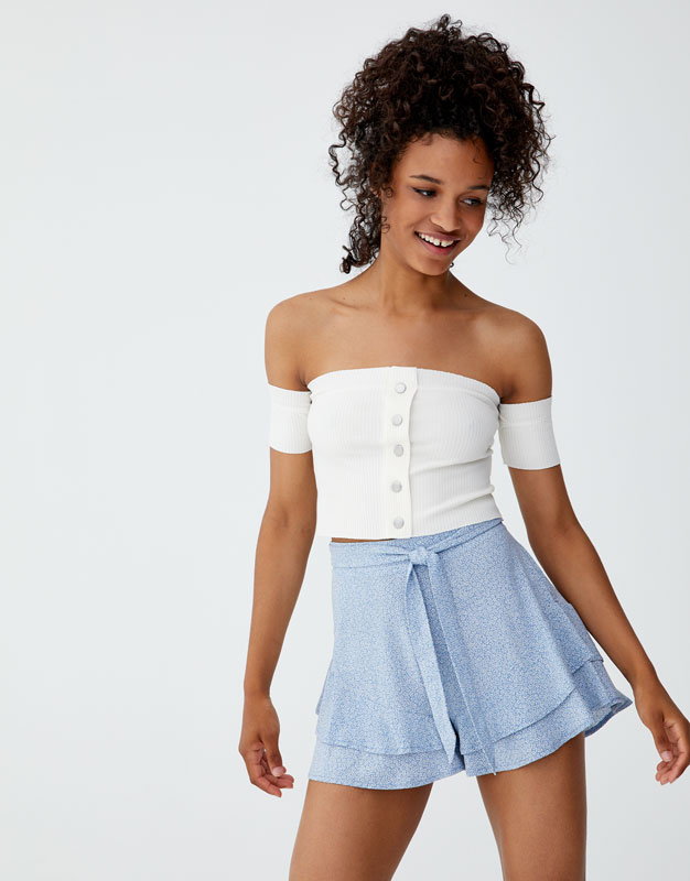 Short Volant Mini Imprimé by Pull & Bear
