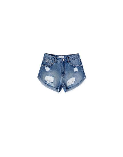 Shorts denim rotos