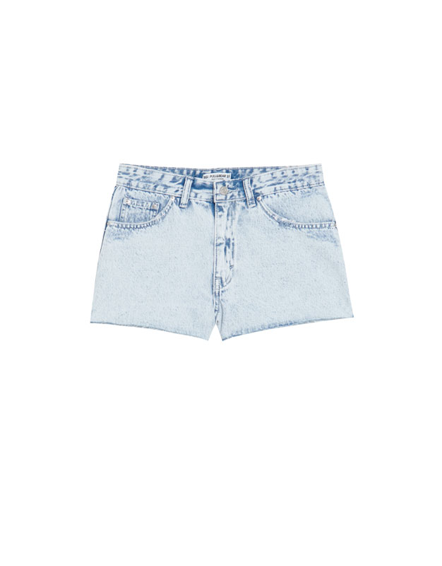 shorts vaqueros mom fit Pull and Bear rebajas verano