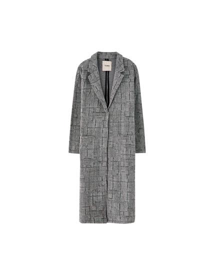 Cappotto uomo grigio spigato