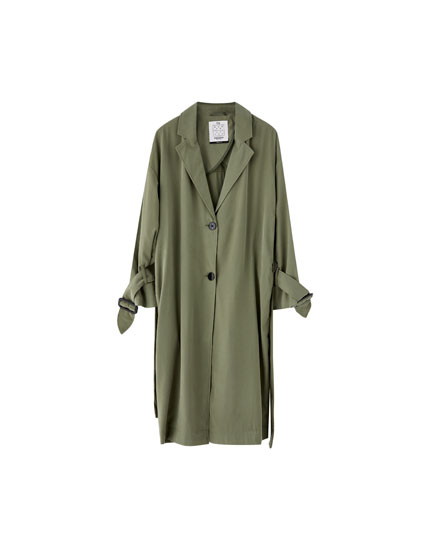 Basic trenchcoat med revers