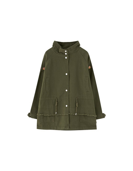 Parka with chest pockets