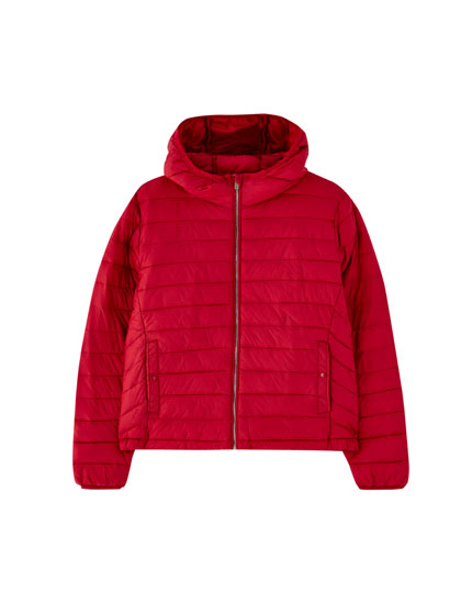 Basic puffer jacket with hood