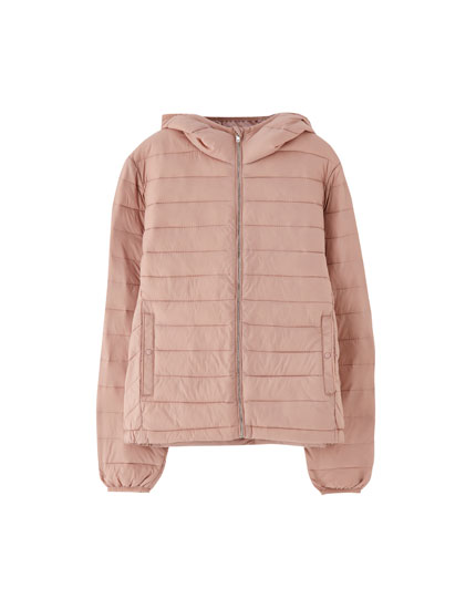 Quilted jacket with hood