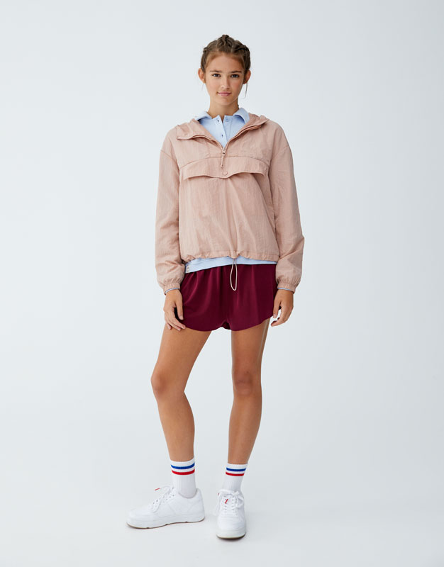 hooded-jacket-with-pouch-pocket by pull-&-bear