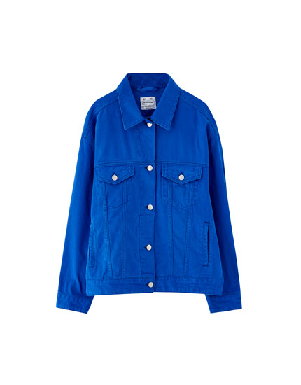 Electric blue denim jacket