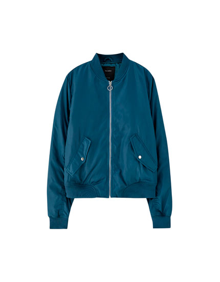 Bomber jacket with pockets