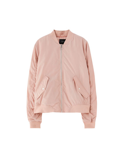 Bomber jacket com bolsos