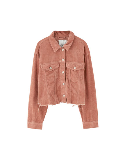 Corduroy jacket with pockets