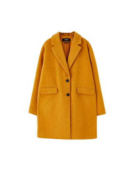 Basics-Mantel aus Lodentuch