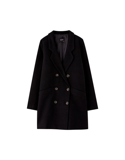 Double-breasted cloth coat