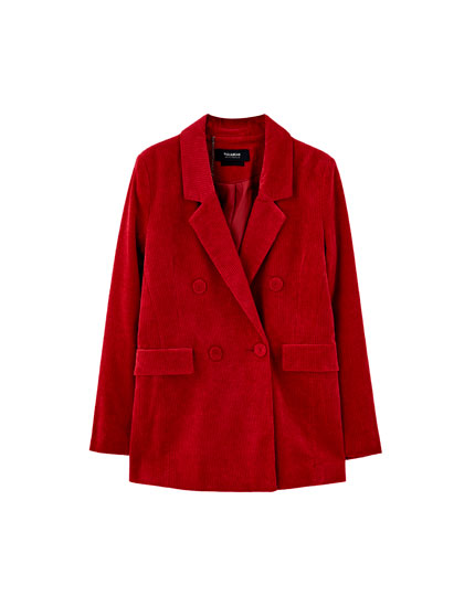Crossover blazer with button