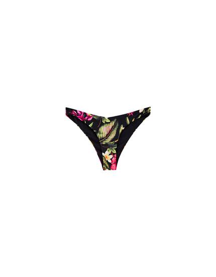 Floral print bikini bottoms